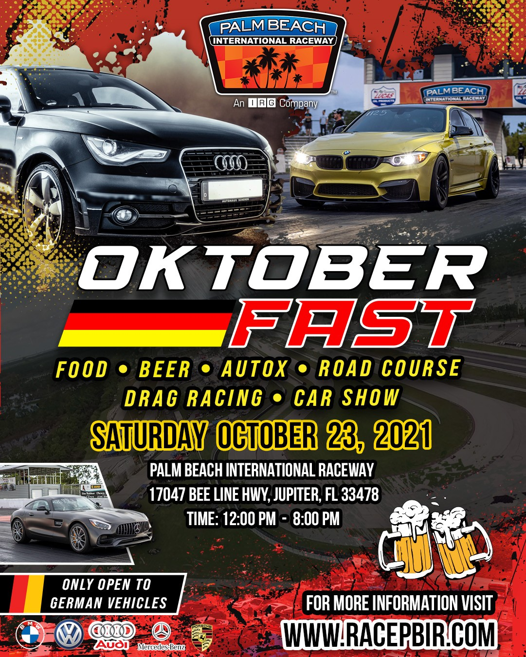 Octoberfast Rolls into West Palm Beach International Raceway. Be There or Be Square!
