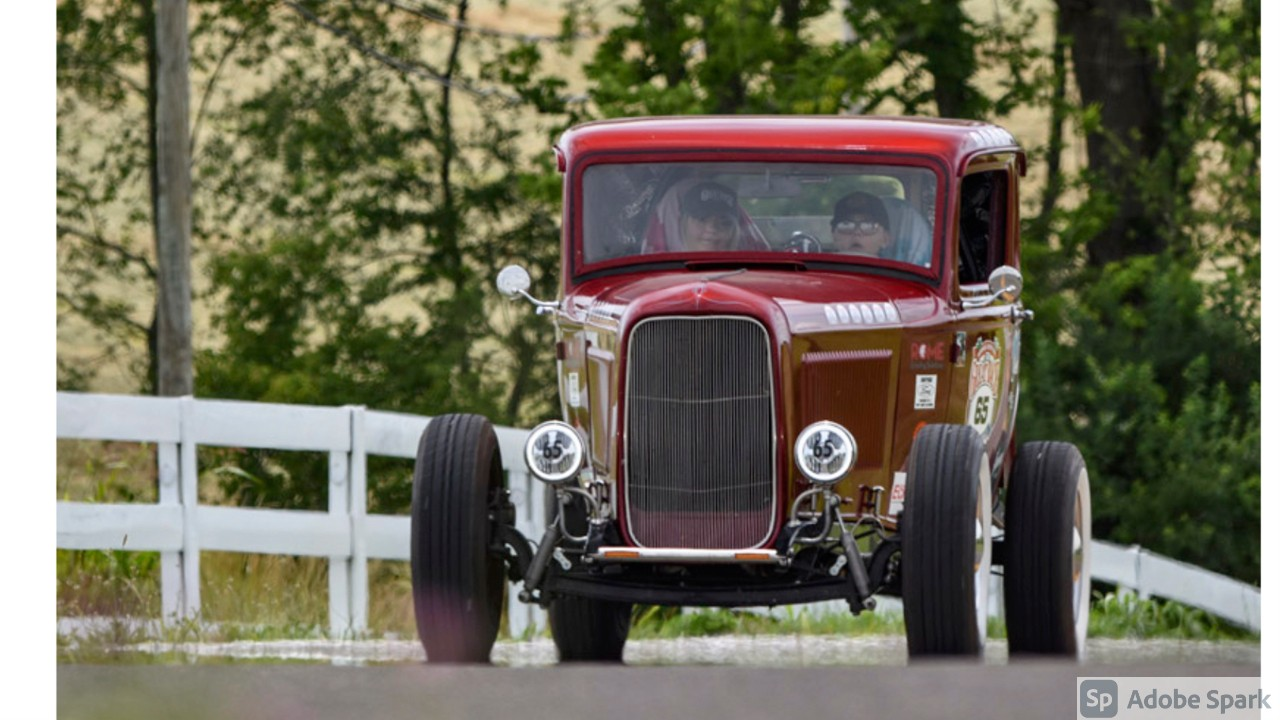 Twisted Sisters Win The Great Race in a '32 Ford.