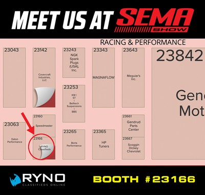 RYNO Ready to Rock SEMA - Here's Where To Find Our Booth