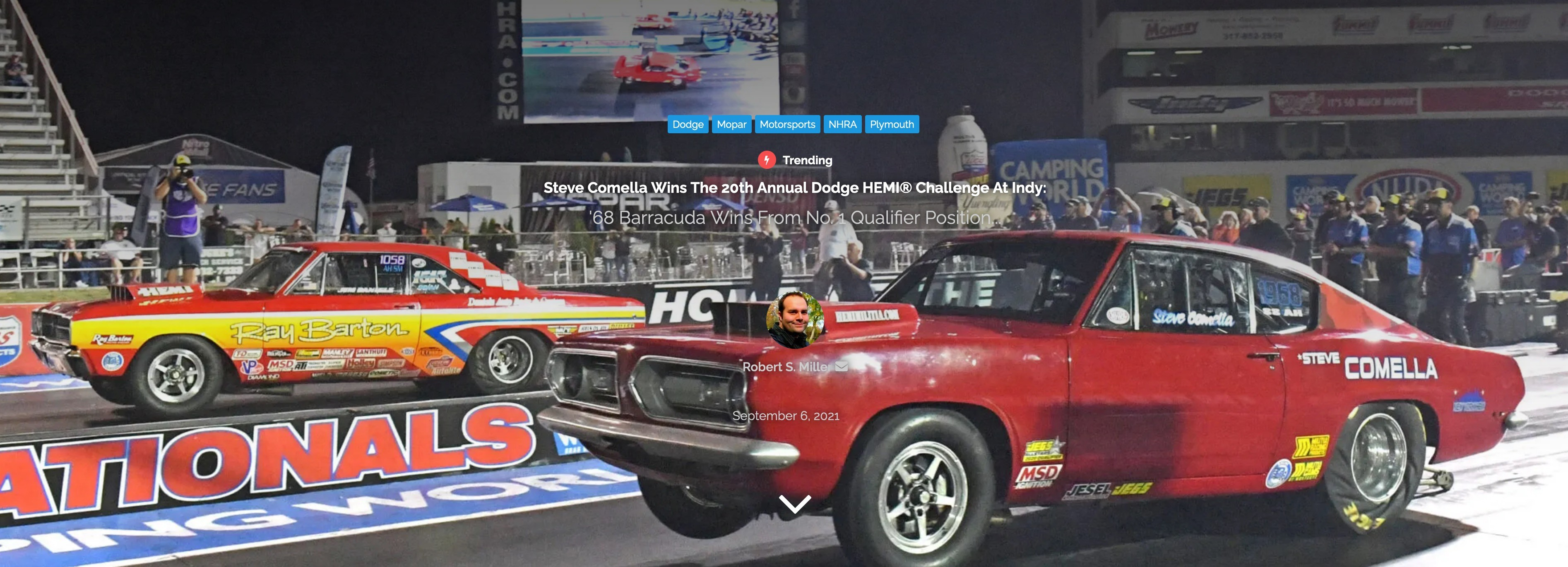 68 Barracuda Wins Dodge HEMI Challenge